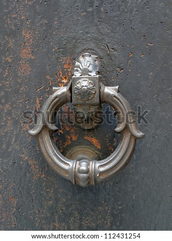 historic door knocker seen in Italy