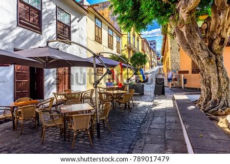 Shutterstock Historic downtown in Icod de los Vinos on Tenerife, Canary Islands, Spain