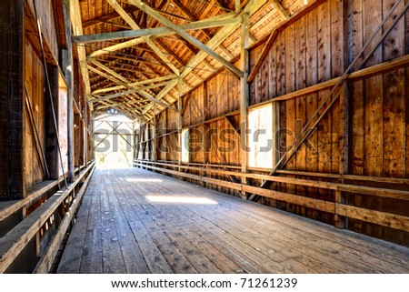Historic Felton Covered Bridge in Felton, California