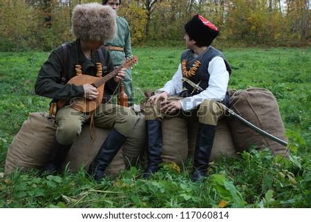 Historic festival devoted to the Russian Civil War (25 October 1917 - October 1922) in Krasnoglinsky City District of Samara (Russia) on October 6, 2012