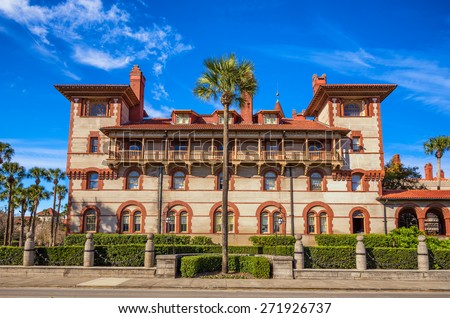 Historic Flagler College in St. Augustine, Florida, USA. It is  a private four-year liberal arts college founded in 1968.