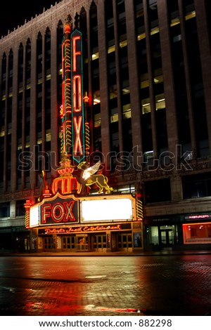 Historic Fox Theater in Downtown Detroit, Michigan