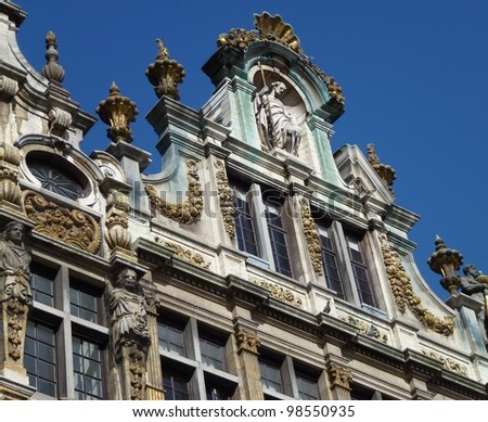 Historic guildhouse  on the grand place in Brussels in Belgium #98550935
