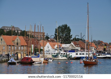 Historic harbor in Flensburg