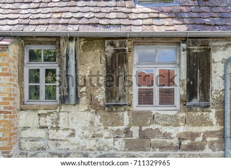 historic house facade with...
