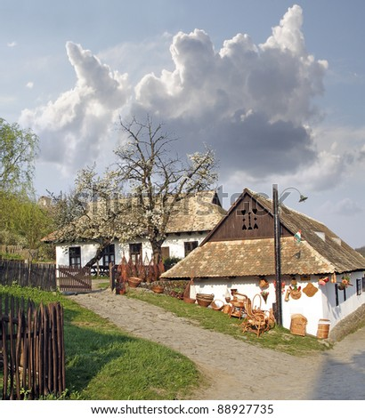 Historic houses in the village of Holloko, (Hollók?) - UNESCO World Heritage Site, Hungary