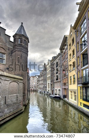 Historic houses on Amsterdam canal