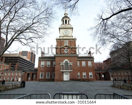 Historic Independence Hall National Park in Philadelphia
