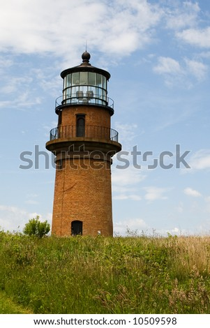 Historic lighthouse at Aquinnah (Gay Head). The west end of Martha's Vineyard, Massachusetts