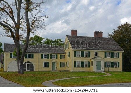 Historic Major John Buttrick House in Minute Man National Historical Park, Concord, Massachusetts, USA. #1242448711