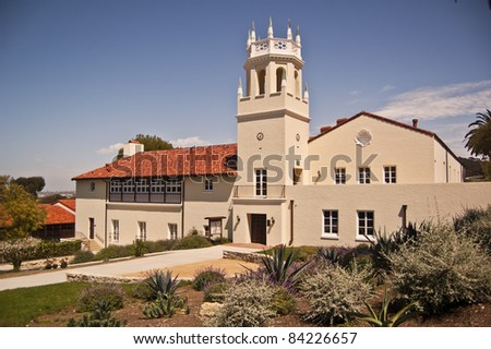 Historic Malaga School at Palos Verdes in Southern California- the first public school in the area- now also house the school district offices