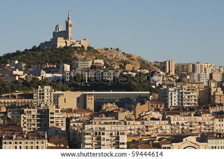 "Historic ""Marseille"" in France in the evening"