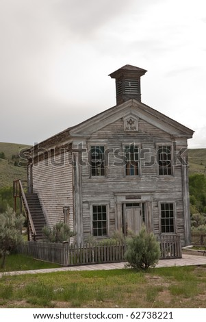 Historic Masonic Lodge and school in Bannack State Park.  The first floor is the school and the lodge is on the second floor.  Annual meetings of the Masons are still held in the lodge.