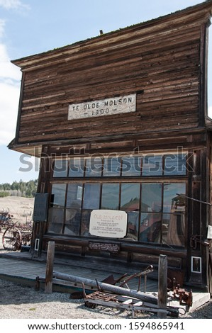 Historic Molson Washington bank located in Okanogan county is site preserved by the historical society and incredible place to visit.
