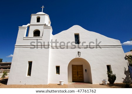 Historic Old Adobe Mission in Old Town Scottsdlae, Arizona