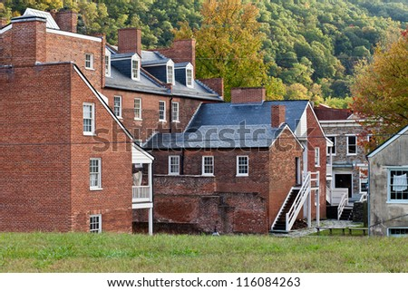 Historic old town Harper's Ferry WV