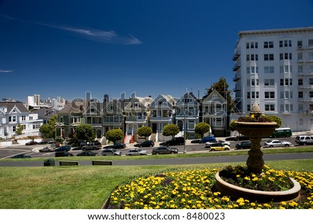 Historic Painted Ladies at Alamo Square, San Francisco, California
