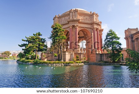 Historic Palace of Fine Arts in San Francisco