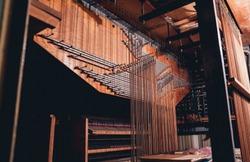 historic pipe organ at a church. Internal system.