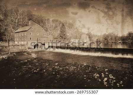 stock-photo-historic-red-mill-in-clinton-township-new-jersey-in-vintage-style-269755307.jpg