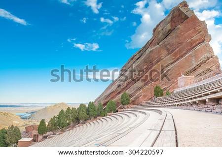 Historic Red Rocks Amphitheater near Denver, Colorado\r