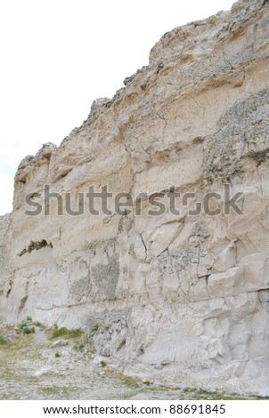 historic Register Cliff pioneer carvings and white cliffs