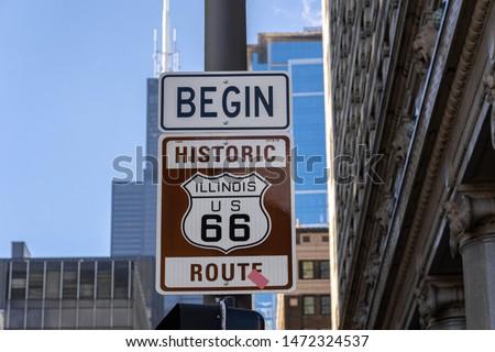 Historic Route 66 Chicago, illinois, USA, United state of America #1472324537