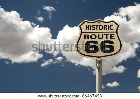 historic Route 66 sign, Arizona, USA