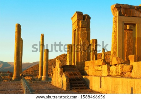 Historic ruins of ancient buildings, ancient buildings in the Middle East