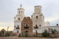 Historic San Xavier del Bac Mission near Tucson, Arizona, USA, World Heritage Site