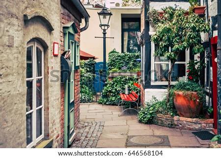 Historic Schnoorviertel in Bremen, Germany Zdjęcia stock ©