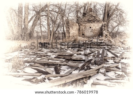 historic site of strauss cabin...