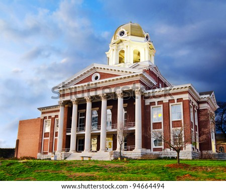 Historic small town city hall or courthouse in Cartersville, Georgia