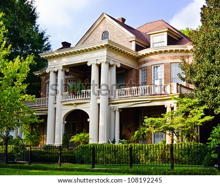 historic southern house with...