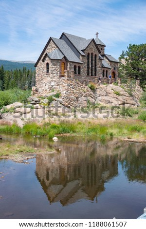 Historic St Malo is also called Chapel on a Rock and St. Catherine of Siena Chapel, Allenspark, Colorado. Saint Malo is a historic Roman Catholic Chapel built in early 1900's by Monsignor Joseph Boset