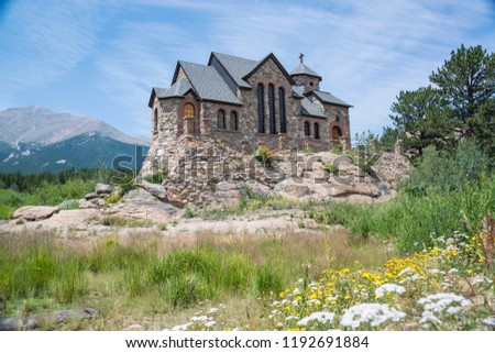 Historic St Malo is also called Chapel on a Rock and St. Catherine of Siena Chapel, Allenspark, Colorado. Saint Malo is a is a popular landmark historic Roman Catholic Chapel built in early 1900's