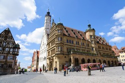 Historic Town Hall of Rothenburg ob der Tauber, Germany