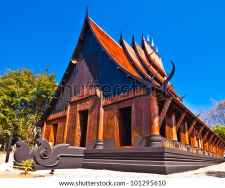 Historic traditional thai northern style wooden house