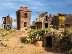 Historic wild west town. Open air museum. Springville. Utah. USA