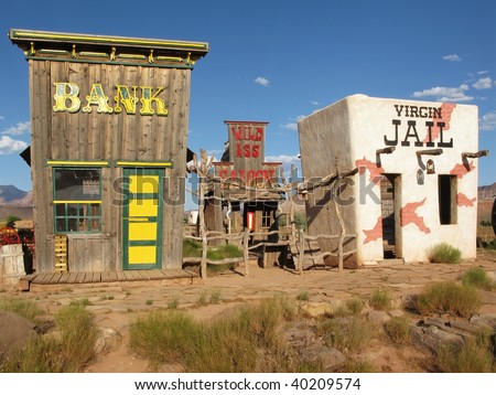 Historic wild west town. Open air museum. Springville. Utah. USA