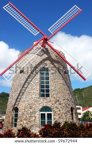 Historic Windmill in St. Thomas