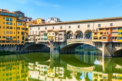 Historical and famous Ponte Vecchio in Florence, Italy