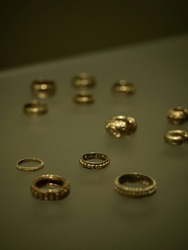 Historical artisanal handicraft archaelogocial treasures from pre-columbian civilizations cultures preserved in Gold Museum Museo del Oro in Bogota Cundinamarca Capital District Colombia