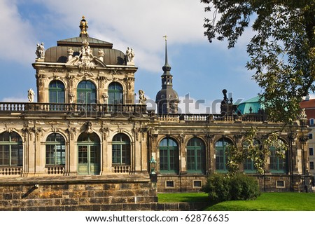 Historical building in Dresden (Germany).