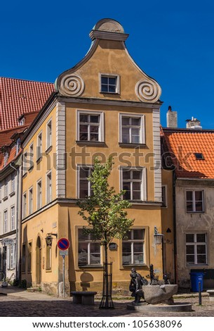 Historical Buildings in Stralsund (Germany). - stock photo