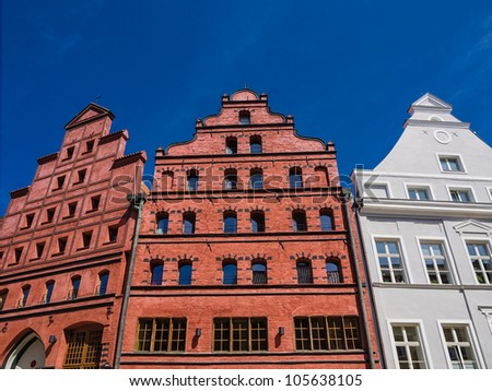 Historical Buildings in Stralsund (Germany).