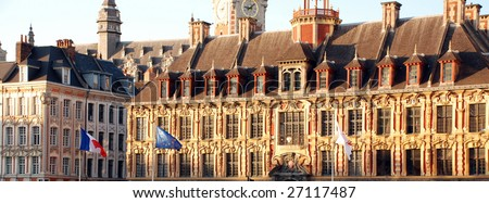 Historical Buildings in the city of Lille. In the nord of France. Lille was cultural capital of Europe in 2004
