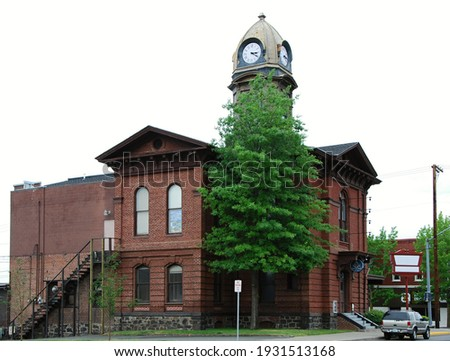 Historical Buildings in the Old Town of the Dalles, Oregon Photo stock ©