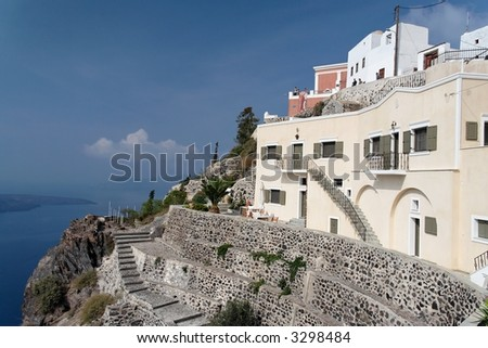 Historical buildings on a high cliff