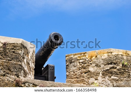 historical cannon at castillo san marcos, st. augustine, florida